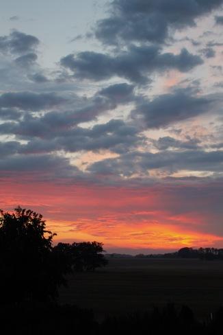 Sonnenuntergang nach Gewitter