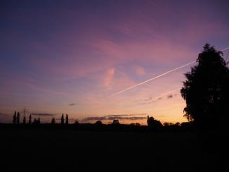 Abendliches Panorama bei Sonnenuntergang
