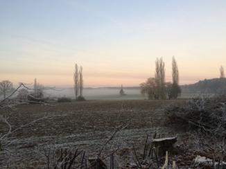 Nebel an einem Wintermorgen