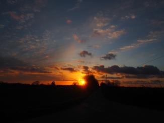 Sonnenuntergang mit Himmelskunst