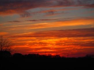 Im Auge des Sonnenuntergangs