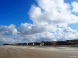 Sandverwehungen im Sturm
