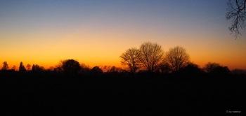 Scherenschnitt nach Sonnenuntergang