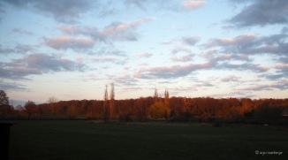 Landschaft von Abendsonne beleuchtet