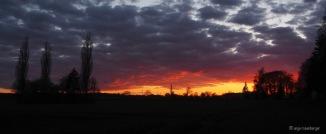 Söll mit Sonnenuntergang und Wolken