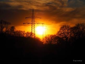 Sonnenuntergang Strommasten